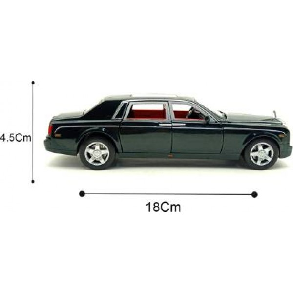 Rolls Royce 1:32 Die Cast Metal Pull Back Luxury Model Car Toy with Light and Sound Features