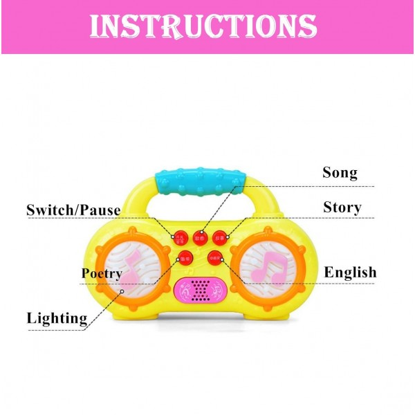 Baby Mini Musical Radio Learning Toy with Different Modes and Animal Sound