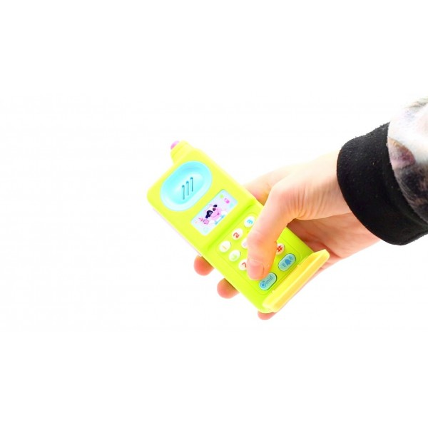 Kids Pretend Play Musical Flip Mobile Phone Toy with Colourful Lights and Sound Effects