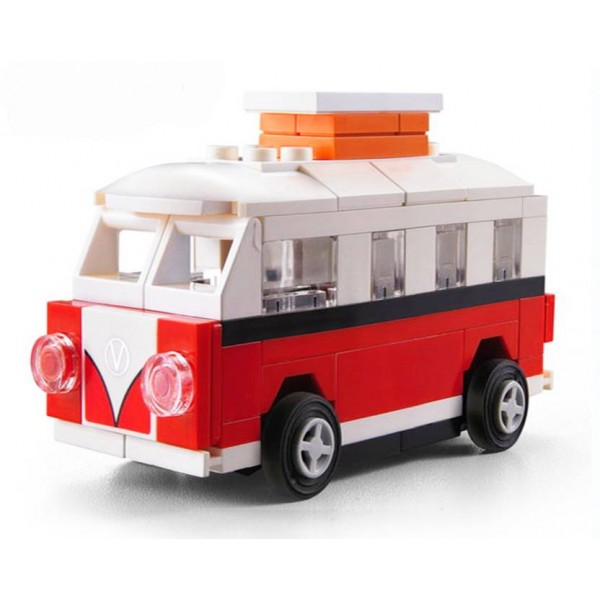 Decool 2220 76Pcs Racing Pacemaker Wagon Van Block Construction Toy With Pullback Action Illustrations