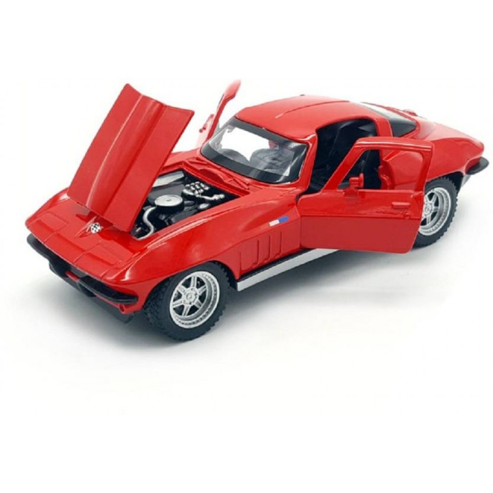 Red 1:32 Die Cast Metal Chevrolet Corvette Pull Back Car Toy with
