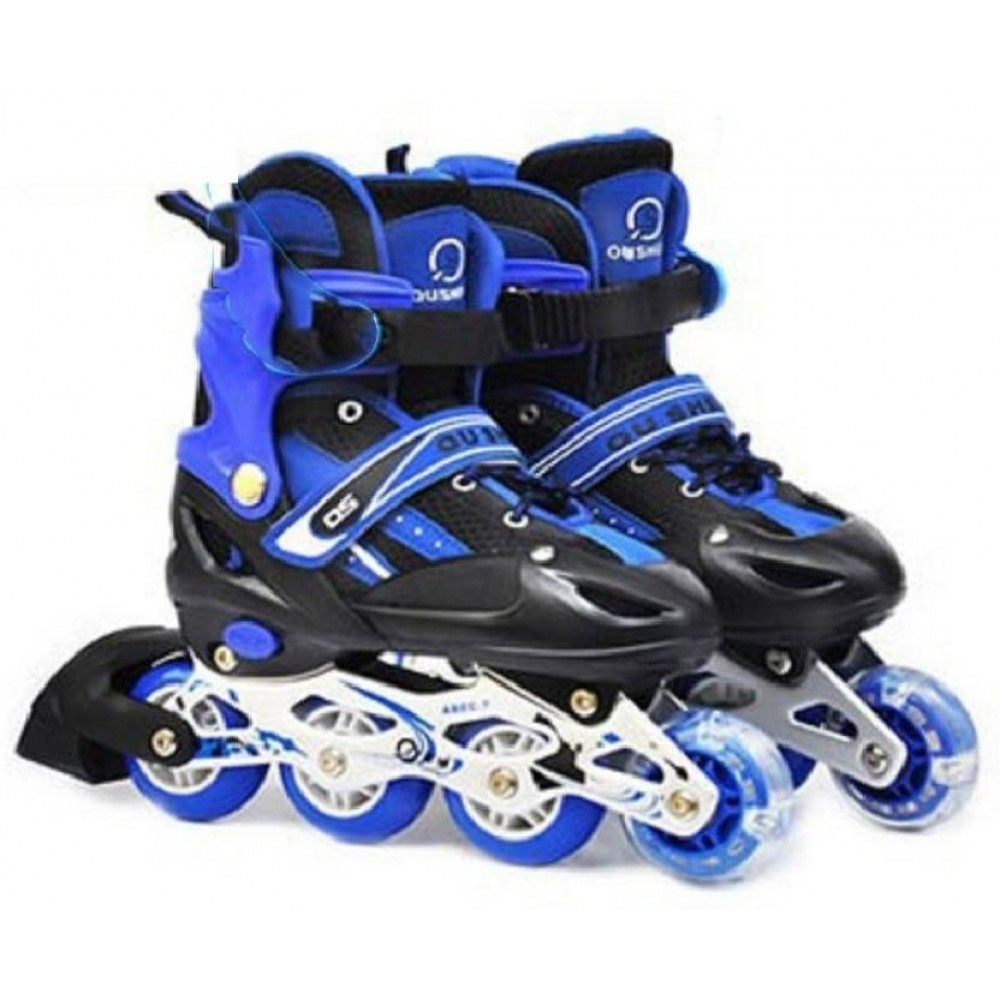 Adjustable Inline four wheels Skating Shoes for Kids with ...