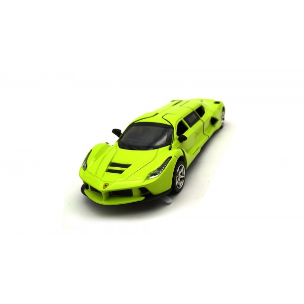 Green 1:32 Die Cast Metal Limousine Ferrari Pull Back Car Toy with