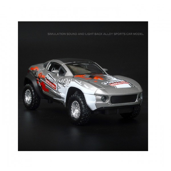 1:32 Die Cast Metal Body Grey Fast and Furious Rally Car Toy with Light and Sound Effects